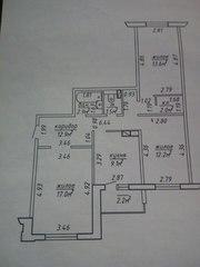 просторная, уютная 3-ех комнатная квартира